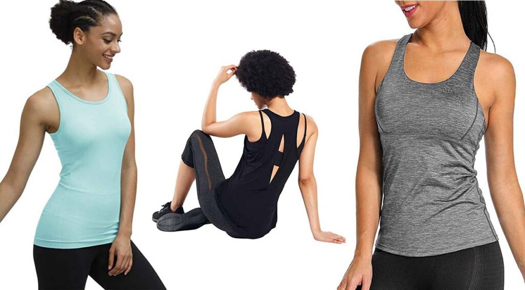 tank tops with built-in bra support